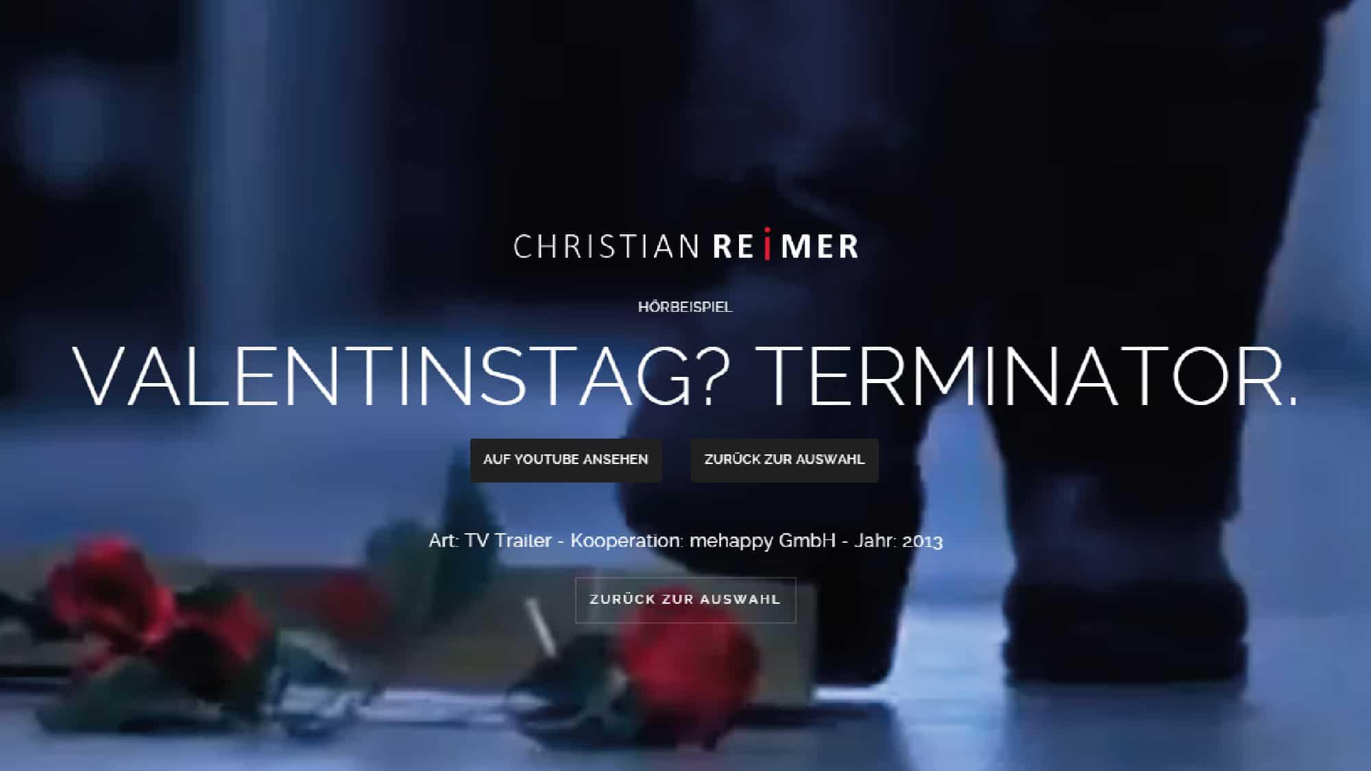 Terminator am Valentinstag. Hörbeispiel Christian Reimer