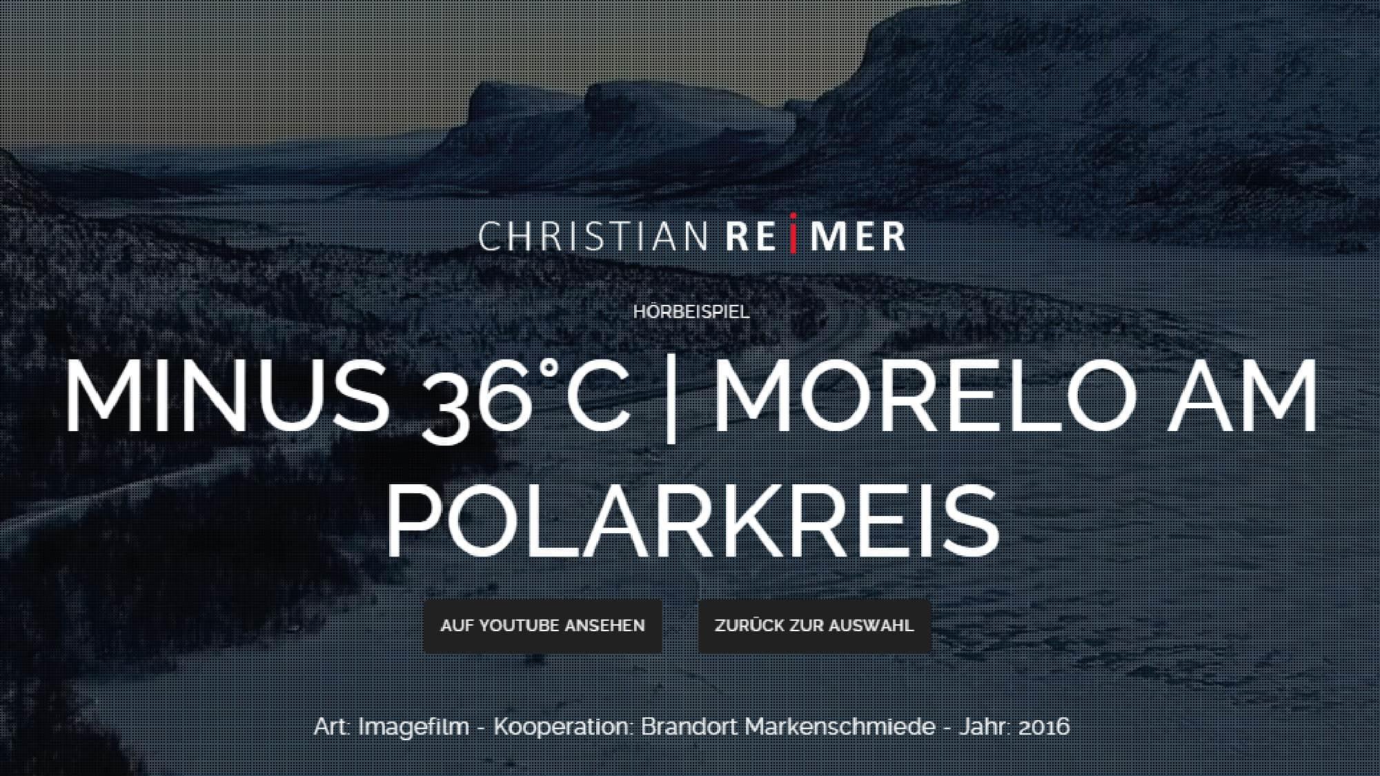 Morelo am Polarkreis. Hörbeispiel Christian Reimer