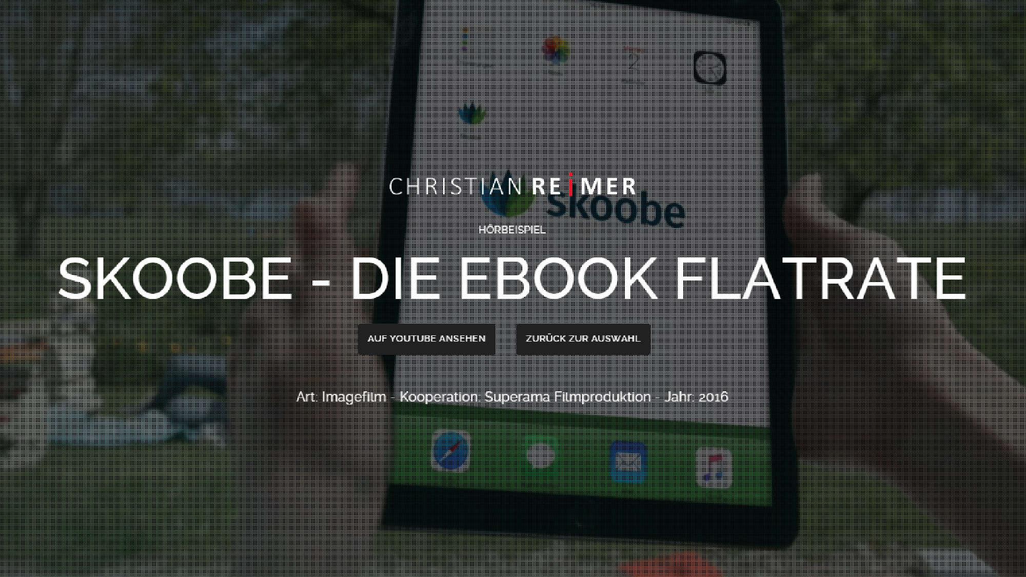Skoobe - die Ebook Flatrate. Hörbeispiel Christian Reimer