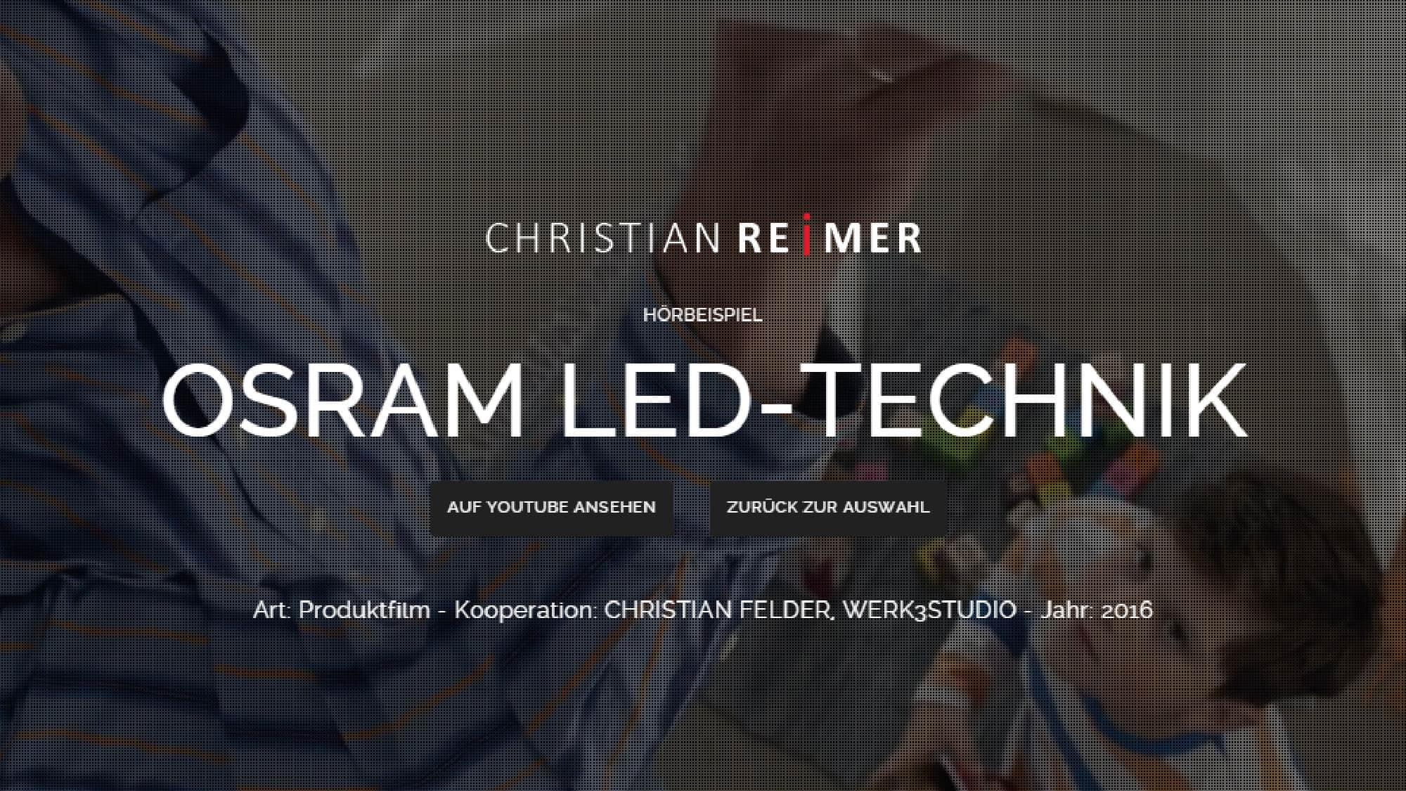 OSRAM LED-Technik Hörbeispiel Christian Reimer