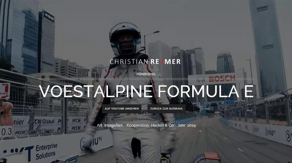 Voestalpine Formula e Christian Reimer Sprecher Hörbeispiel
